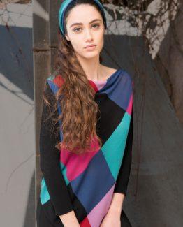 Maglia casacca patchwork