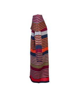 Abito a tunica di lana a righe-fw1704-vista laterale