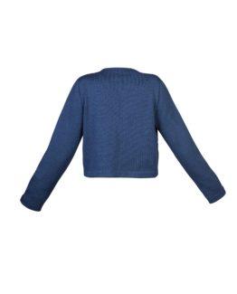 Giacchino di lana corto blu - fw1702 - vista posteriore