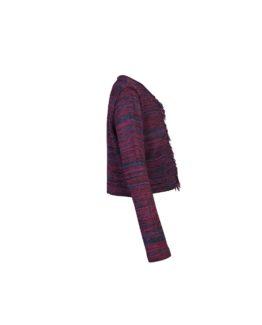 Giacchino di lana corto melange - fw1702b - vista laterale
