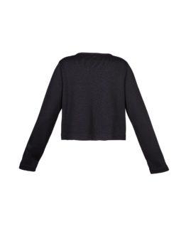 Giacchino di lana corto nero - fw1702a - vista posteriore
