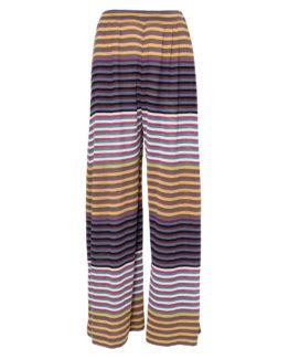 Pantalone di maglia a righine
