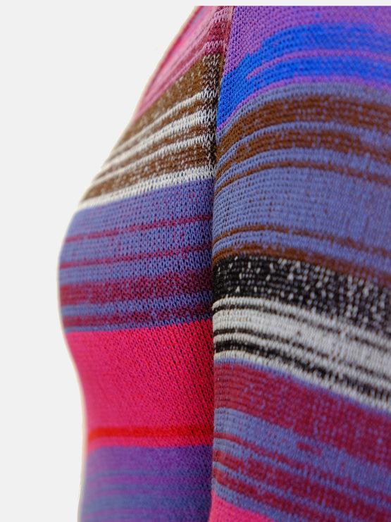 Maglia avvitata melange multicolor