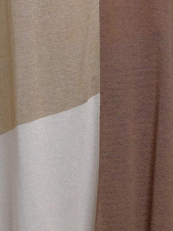 Maglia effetto poncho beige