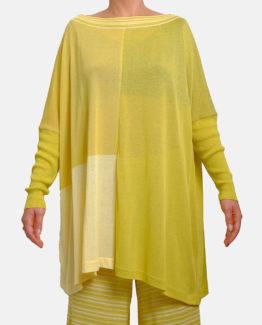 Maglia effetto poncho giallo