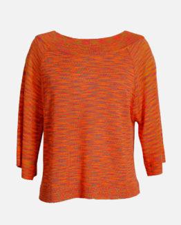 maglia melange arancio