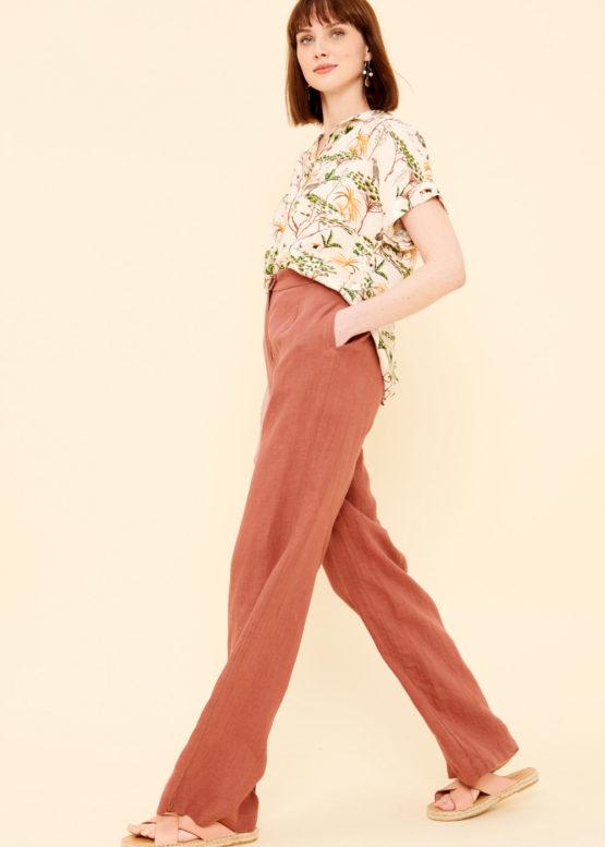 Pantalone Largo Lino